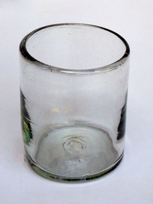 MEXICAN GLASSWARE / Clear blown glass tumblers (set of 6)